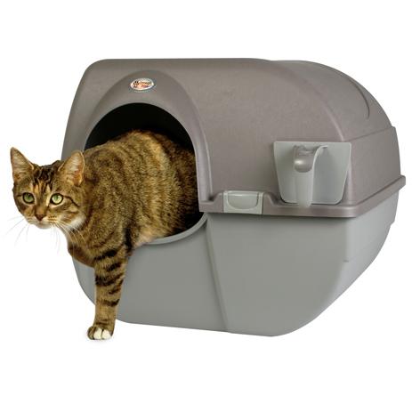 Omega Paw roll 'n clean zelfreinigende kattenbak maakt Schoonmaken makkelijker dan ooit